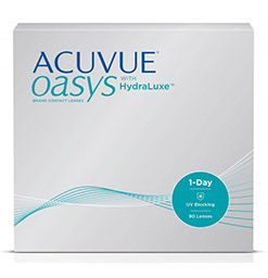 1 Day Acuvue Oasys with Hydraluxe Box of 90 Contact Lenses